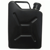 5oz Black Matt Jerry Can Hip Flask
