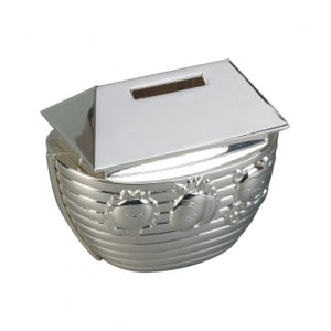 Noah's Arc Money Box - Silver Plated