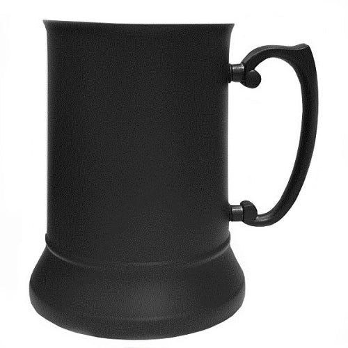 Steel Tankard - Matt Black - Logo