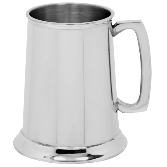1 Pint Plain Pewter Tankard Logo
