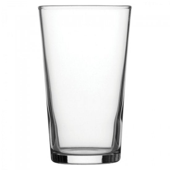 1 Pint Conical Glass - Writing