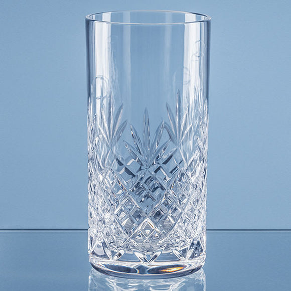 400ml Blenheim Lead Crystal Full Cut High Ball