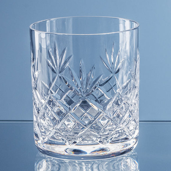 400ml Blenheim Lead Crystal Full Cut Whisky Tumbler