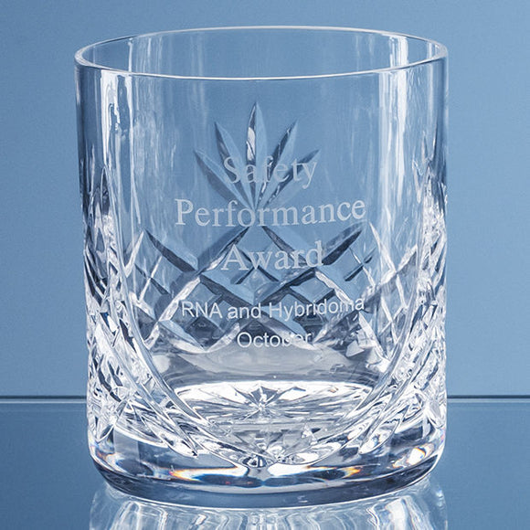 400ml Blenheim Lead Crystal Panel Whisky Tumbler