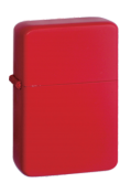 Red Matt Petrol Lighter
