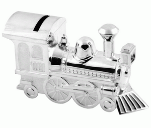 Train Money Box - Silver Plated