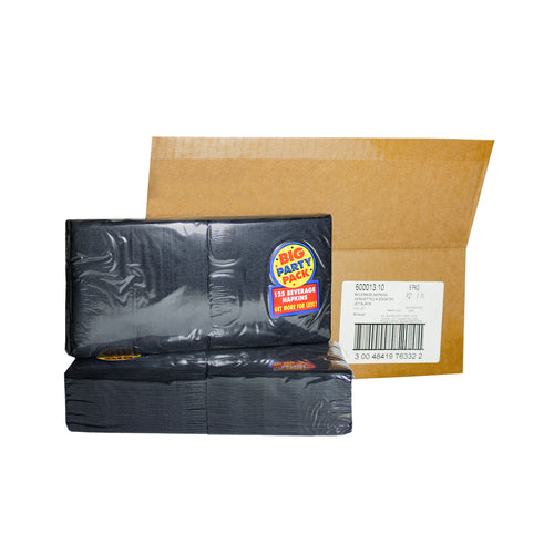 2-ply black beverage napkins (750 pieces)