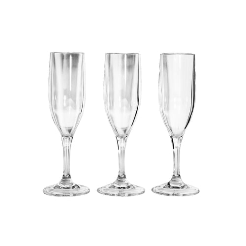 champagne glasses - glass and acrylic
