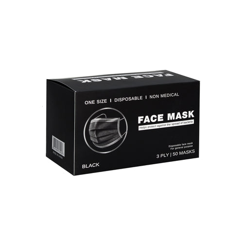 disposable black face masks