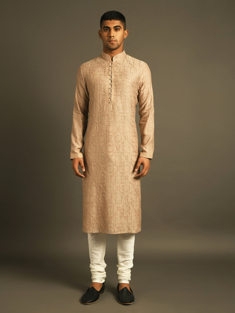 Hand Embroidered Kurta perfect for summer weddings