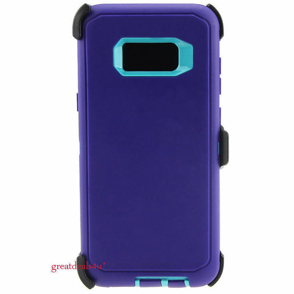 For Samsung Galaxy S8+ Plus Rugged Case Cover (Fits Otterbox Defender Belt Clip)