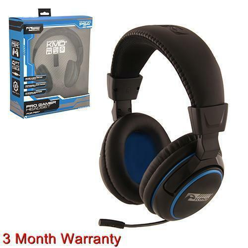KMD Live Pro Gamer Headset With Mic For PS4 NEW BLACK