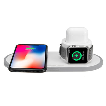 3 In 1 10W QI Wireless Charger Fast Charging Stand For iPhone Xs/Xr/Xs for Samsung Galaxy S9/S9