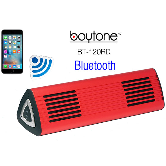 Boytone BT-120RD Ultra-Portable Wireless Bluetooth Speaker - Phoenix Red