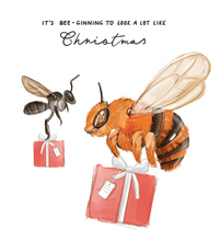 Load image into Gallery viewer, Bee-ginning Christmas Card