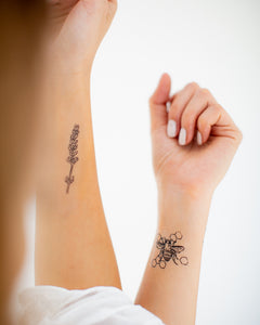 For the Love of Bees Temporary Tattoos