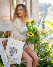Load image into Gallery viewer, Save the Bees Tote Bag