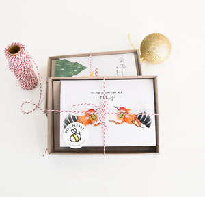 Bee Christmas Card 4 Pack