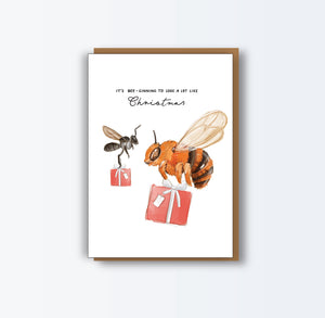 Bee Christmas Card 8 Pack