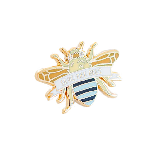 Blue Banded Bee Enamel Pin