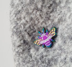 Peacock Carpenter Bee Enamel Pin