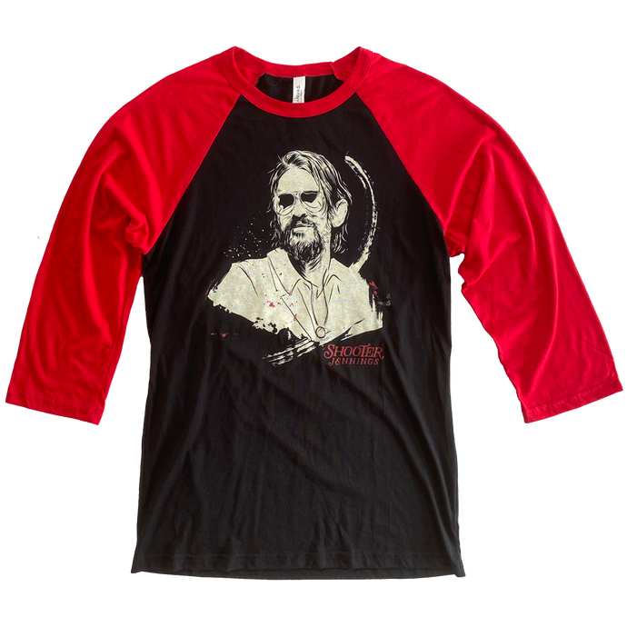 Portrait Raglan - Black & Red