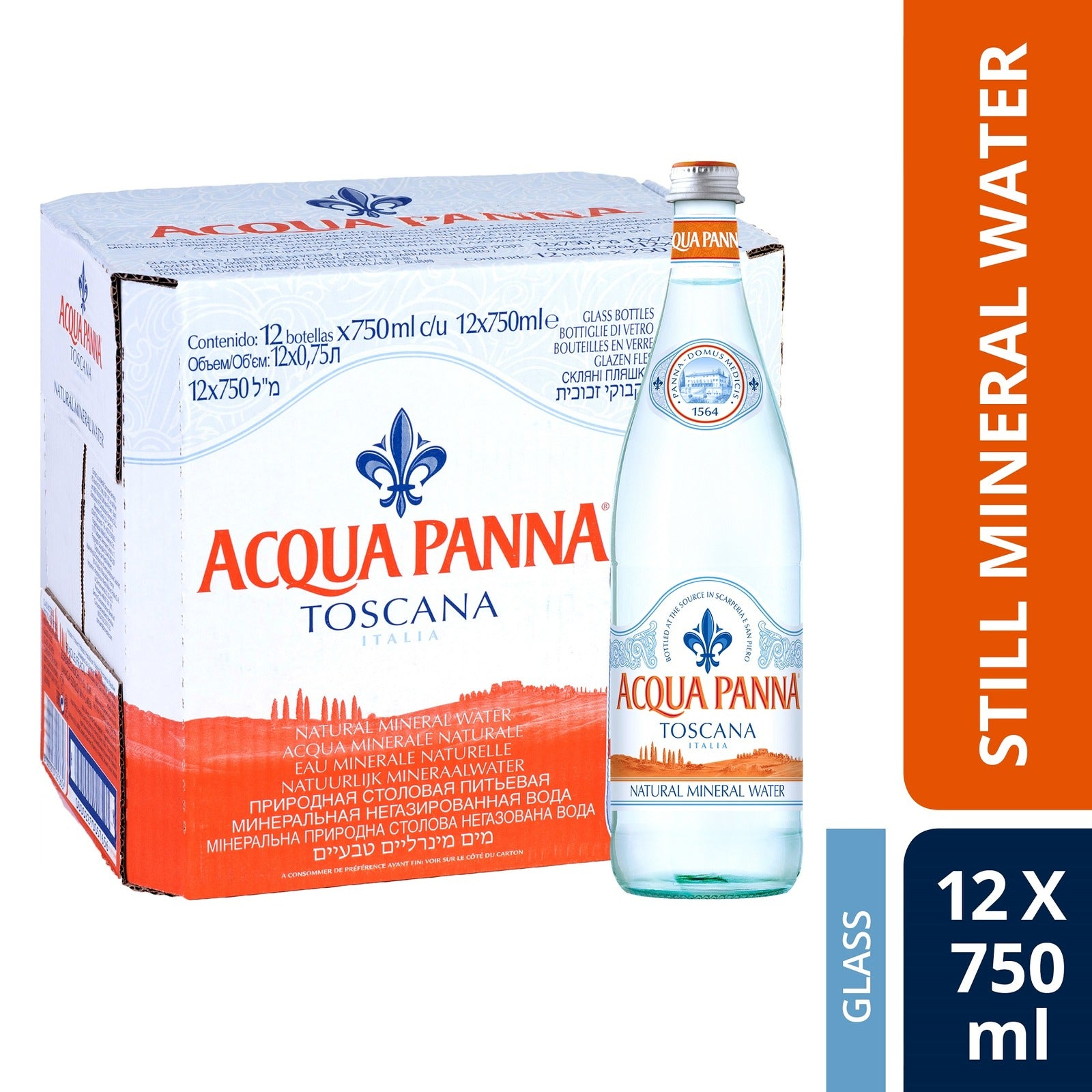 Acqua Panna Still Mineral Water (12 x 750ml)
