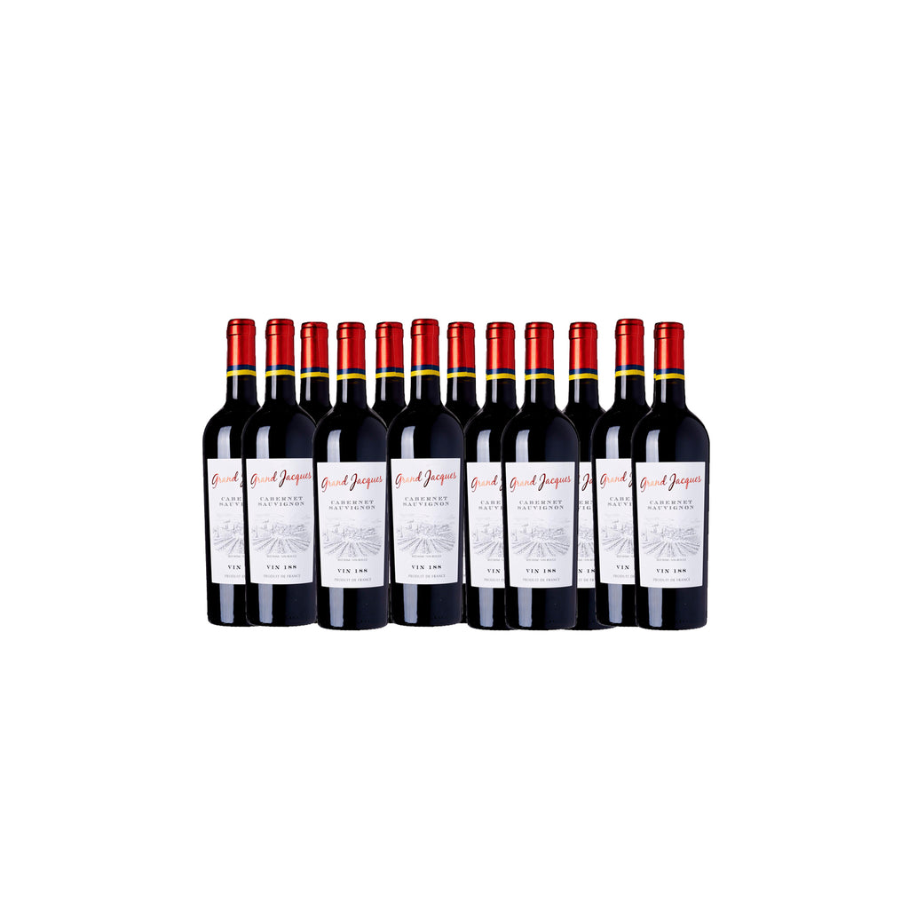 Grand Jacques Vin 188 Cabernet Sauvignon 2019 750ml (Case of 12)