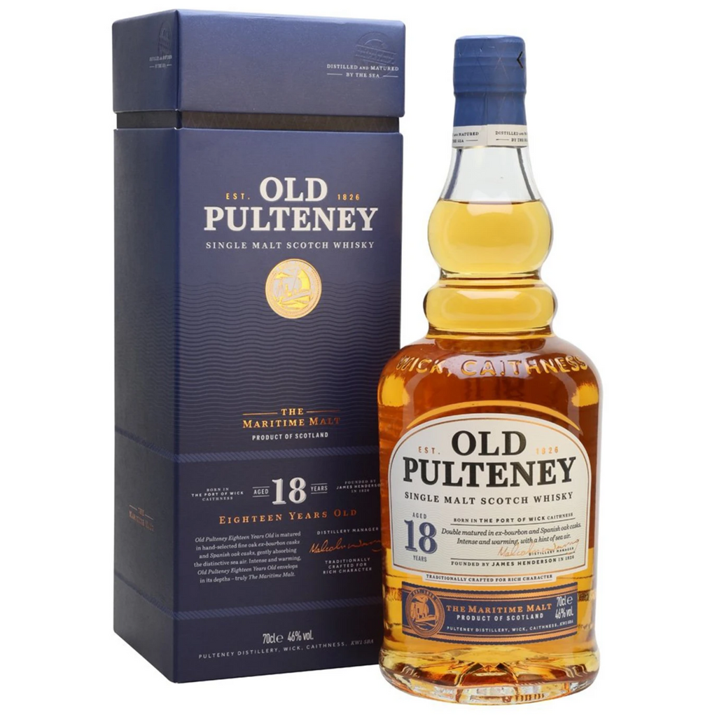 Old Pulteney 18 Year Old Single Malt Whisky 700ml