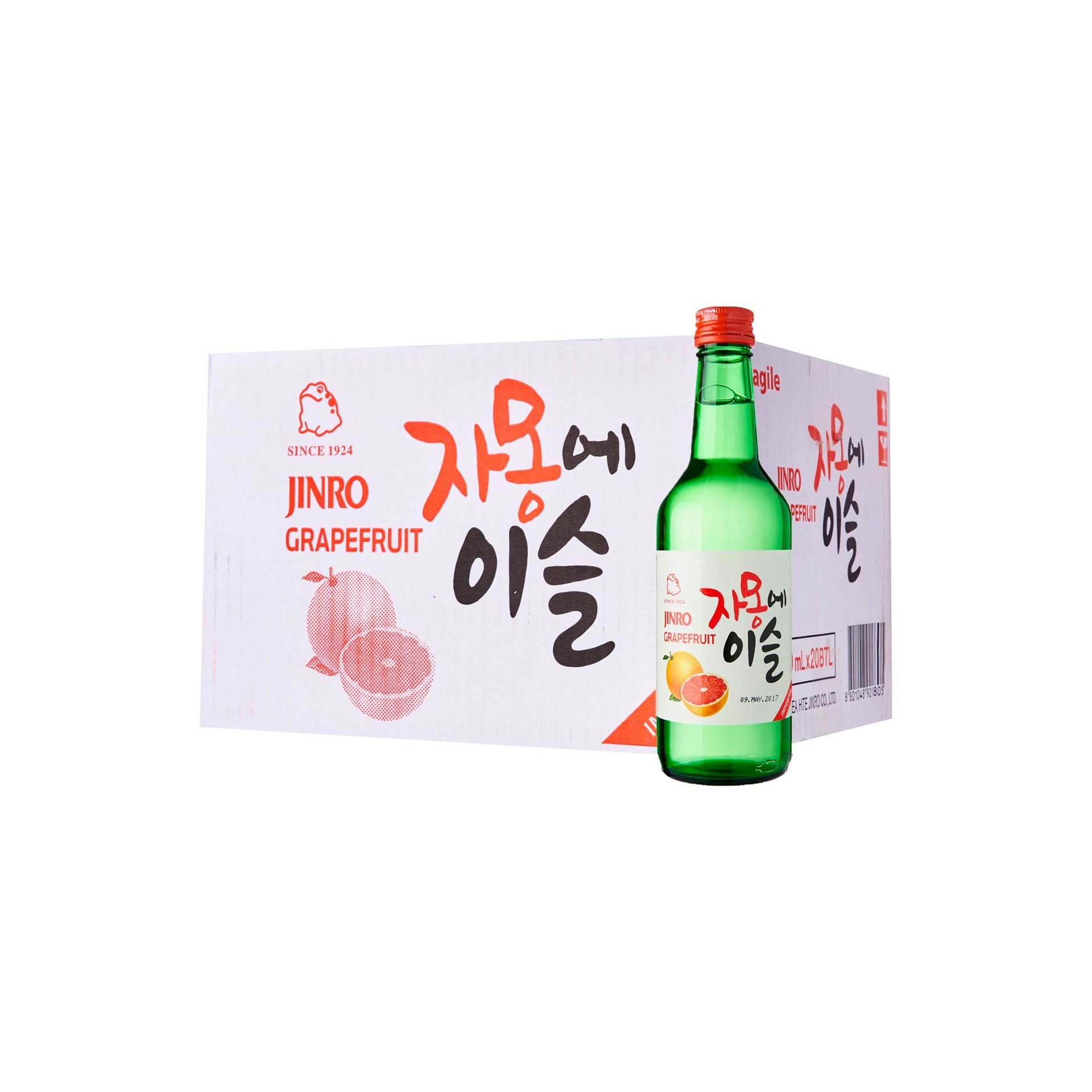 Chamisul Jinro Grapefruit Soju (20 x 360ml)