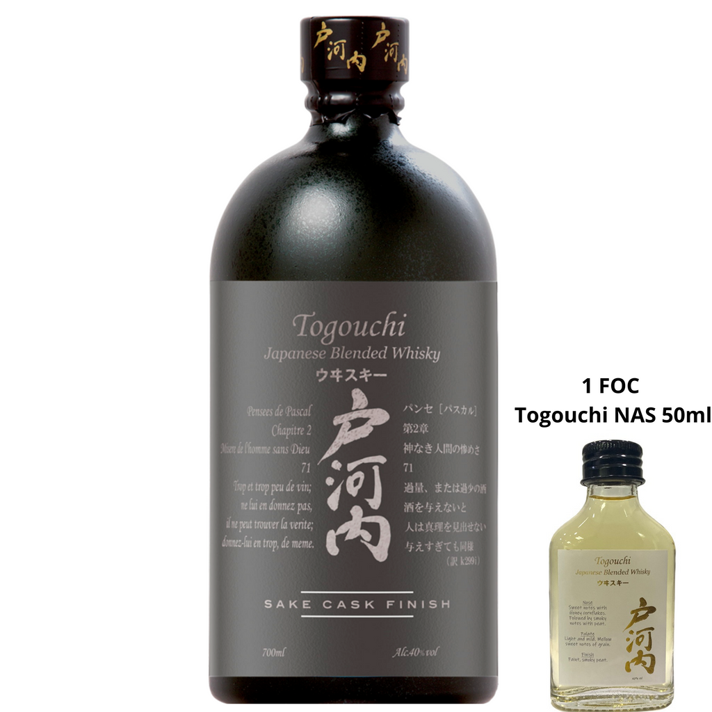 Togouchi Blended Whisky Sake Cask Finish 700ml + FOC Togouchi NAS 50ml