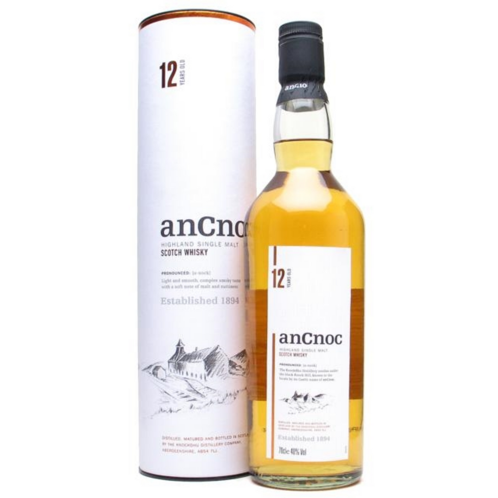 AnCnoc 12 Year Old Single Malt Whiskey 700ml