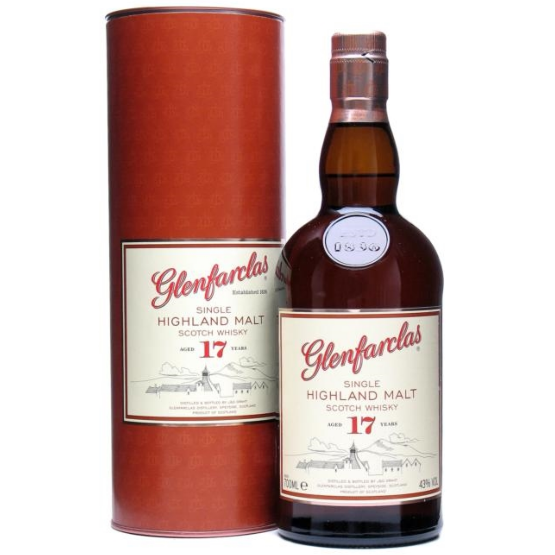 Glenfarclas 17 Year Old Single Malt Whiskey 700ml