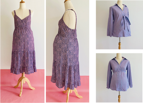Jolibump in partnership with RETOLD - Lavender selection of maternity wear.