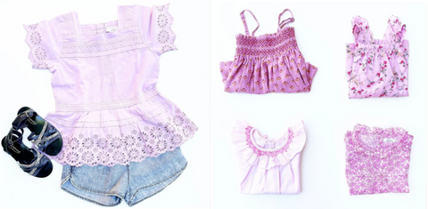 PanPan CuCu in partnership with RETOLD - Lavender selection of child's clothes.
