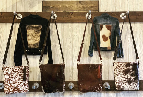 Cowhide and Leather crossbody