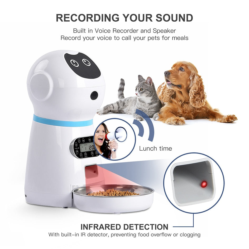 Auto Feeder Dog with Voice Recording