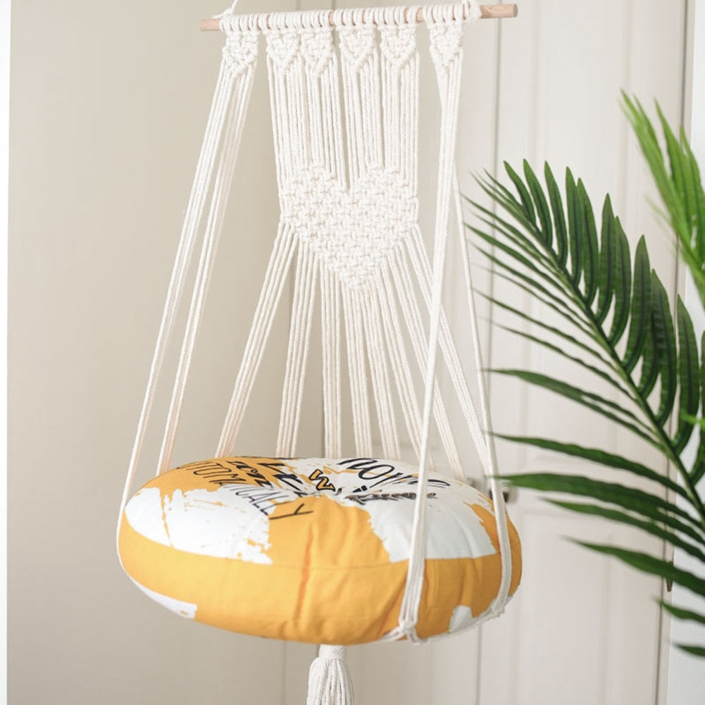 Hand-Woven Hanging Pet Lounge