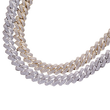 Load image into Gallery viewer, bling cuban chain necklace micro pave stones
