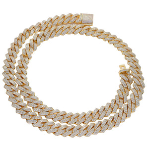 bling cuban chain necklace micro pave stones