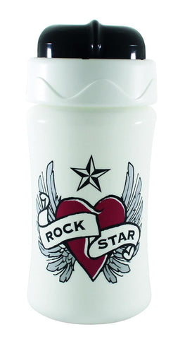 Borraccia con Cannuccia Heart Wings | ROCK STAR BABY | RocketBaby.it