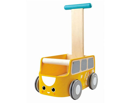 Carrettino Primipassi Van Yellow | PLAN TOYS | RocketBaby.it