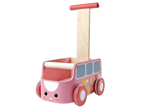 Carrettino Primipassi Van Pink | PLAN TOYS | RocketBaby.it