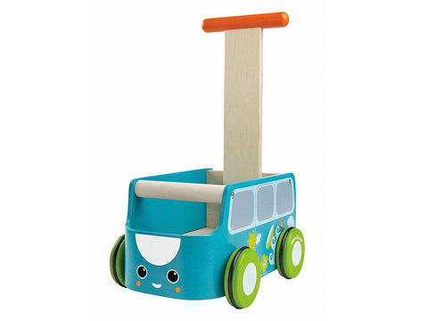 Carrettino Primipassi Van Blue | PLAN TOYS | RocketBaby.it