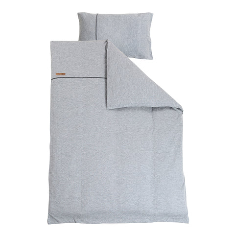 Set Copripiumino E Federa Per Lettino Grey Melange | LITTLE DUTCH | RocketBaby.it