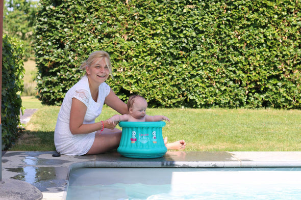 Baby Bath Vaschetta e Piscinetta Gonfiabile Bianco |  | RocketBaby.it