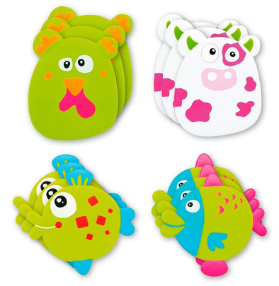 Set 6 Antiscivolo per Doccia Fishes o Farm | OLMITOS | RocketBaby.it