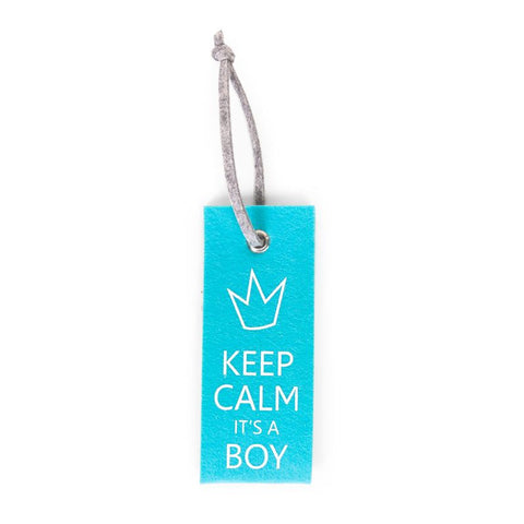 Appendiporta Azzurro Keep Calm Boy - RocketBaby