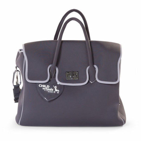 Borsa Fasciatoio in Neoprene Grigio Scuro - CHILDHOME - RocketBaby.it