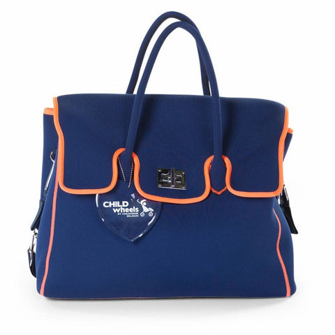 Borsa Fasciatoio in Neoprene Blu e Arancione - CHILDHOME - RocketBaby.it